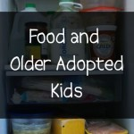 food and older adopted teens
