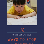 stopping a tantrum