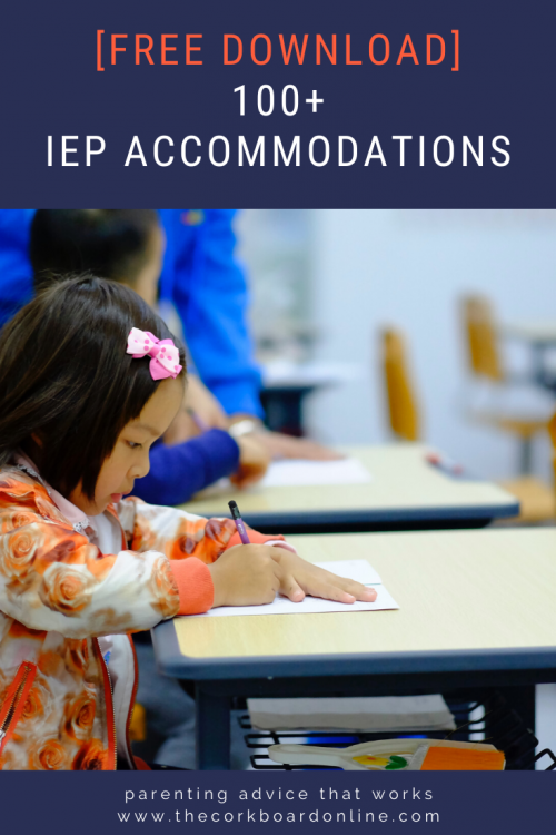 iep accommodations, special education, adhd